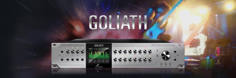 Goliath - Thunderbolt ™, USB and MADI Audio Interface