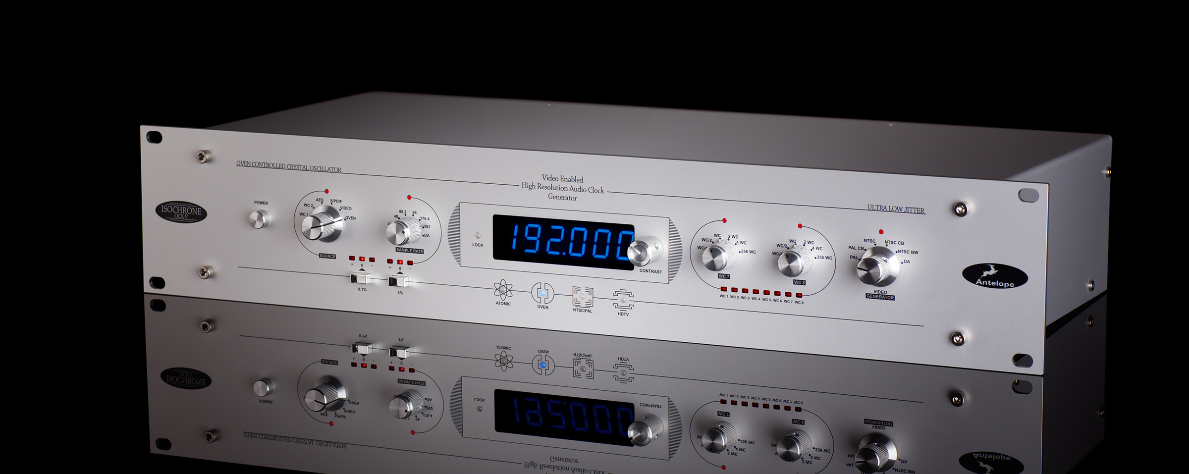 The OCX-V is a video-enabled audio master clock