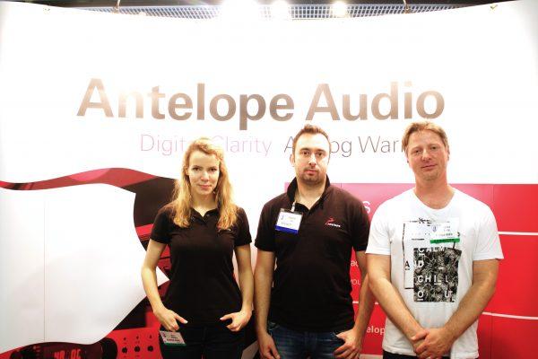 Antelope Audio Team at AES Paris 2016