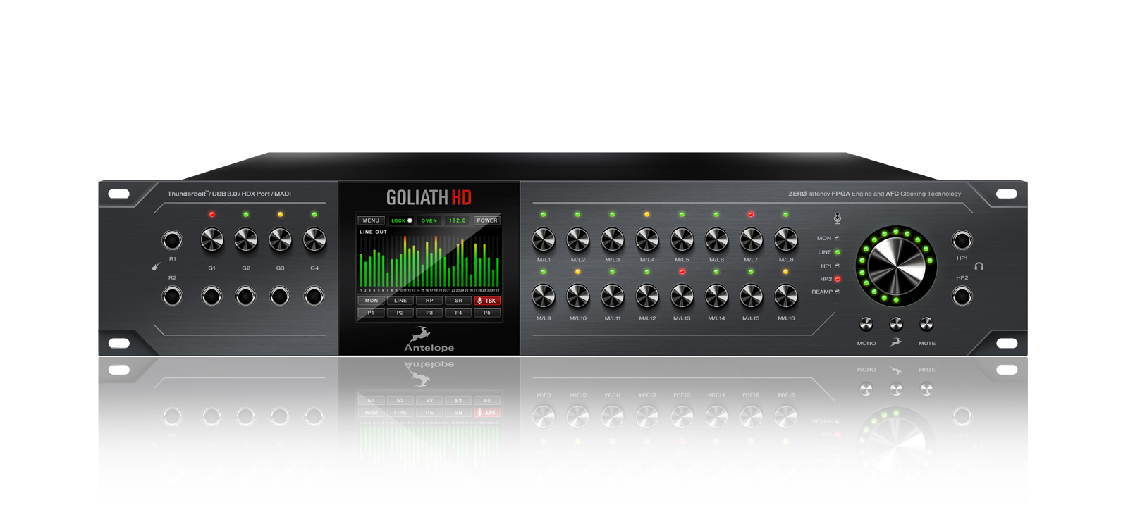 Goliath HD | 64-channel Pro Tools HD Interface | Antelope Audio