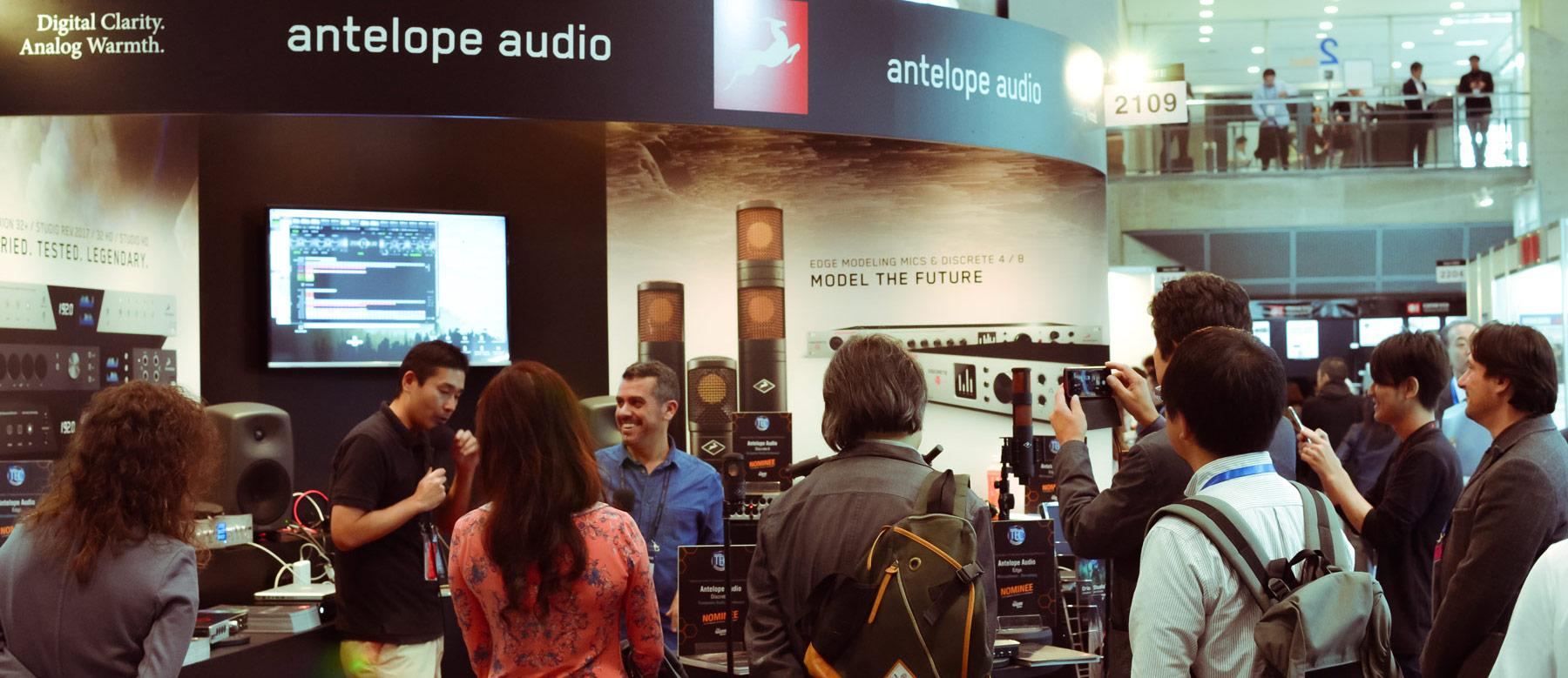 Antelope Audio takes the Edge Family & Amari to Japan at InterBEE 2018