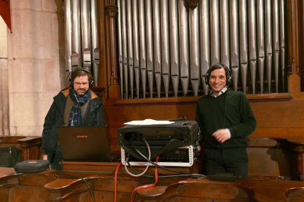 03 01 2019 Organ player FranЗois Eymet obviously very happy by the sound of the recording
