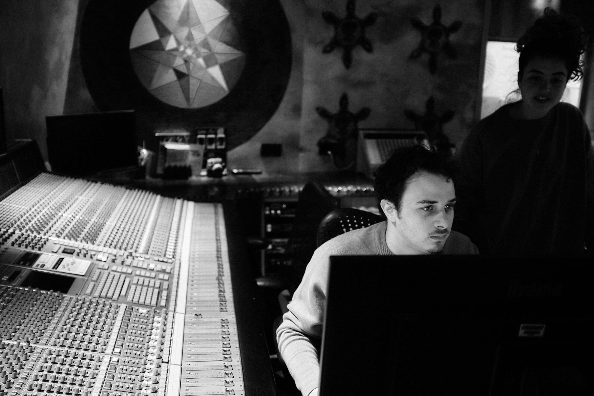 Ricky Damian sitting in the studio