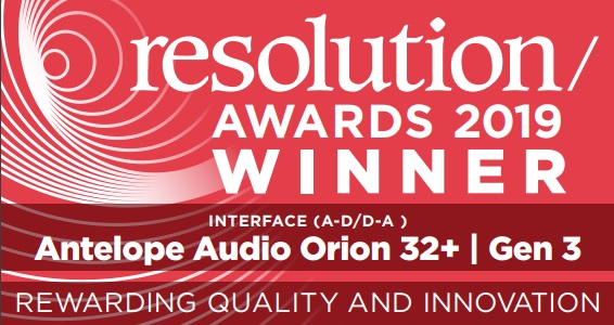 Resolution awards 2019 winner's badge for best interface