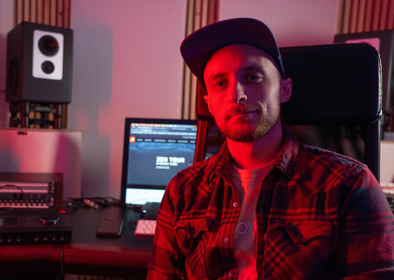 Danny Trachtenberg in his studio