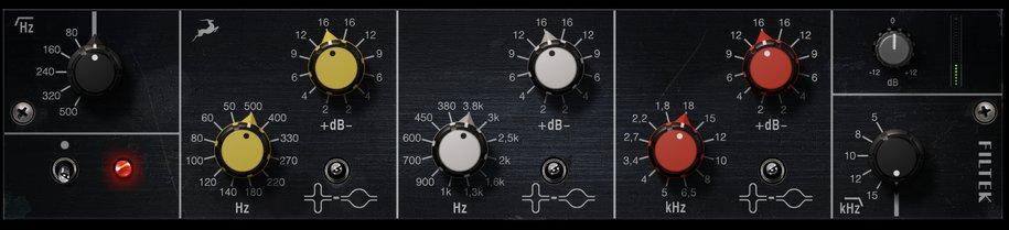 Filtek MK3 EQ Plugin GUI